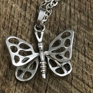 925 Sterling Silver Butterfly Necklace